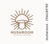 mushroom farming logo vector... | Shutterstock .eps vector #1966189789