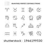 simple set of astrological... | Shutterstock .eps vector #1966199530