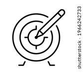 monochrome target with accuracy ... | Shutterstock .eps vector #1966242733