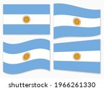 isolated the argentina flag set ...   Shutterstock .eps vector #1966261330