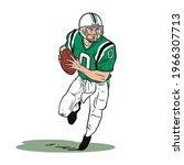 Running Football Player Cartoon ...