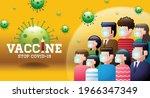 vaccine  stop covid 19  mask ... | Shutterstock .eps vector #1966347349