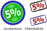 bicolor 5 percents seals. blue... | Shutterstock .eps vector #1966366036