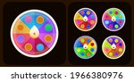 realistic 3d spinning fortune...   Shutterstock .eps vector #1966380976
