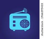 radio icon vector  old retro...