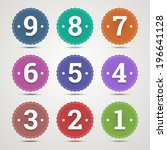 set of round emblems with... | Shutterstock .eps vector #196641128