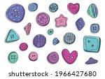 button clothes doodle set.... | Shutterstock .eps vector #1966427680