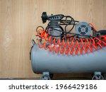 the small  gray air compressor...   Shutterstock . vector #1966429186