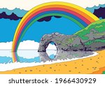 psychedelic seascape  coast and ...   Shutterstock .eps vector #1966430929