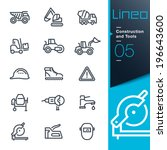 lineo   construction and tools... | Shutterstock .eps vector #196643600