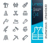 lineo   construction and tools... | Shutterstock .eps vector #196643630