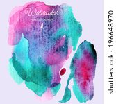 abstract hand paint watercolor... | Shutterstock .eps vector #196648970