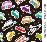 car vector seamless pattern | Shutterstock .eps vector #196651898