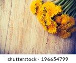 vintage photo of dandelion...   Shutterstock . vector #196654799