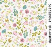 seamless floral pattern design... | Shutterstock .eps vector #1966551190