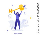 woman keywoman  leader with... | Shutterstock .eps vector #1966604806