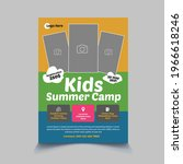 kids summer camp flyer template ...   Shutterstock .eps vector #1966618246