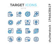 target icons. vector line icons ... | Shutterstock .eps vector #1966638619