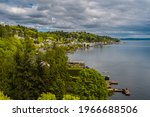 Seattle's Shoreline And Lake...