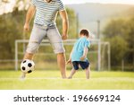 young father with his little... | Shutterstock . vector #196669124