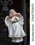 Figurine Of An Angel In A White ...