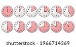 clock timer set red. stopwatch...
