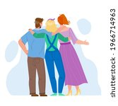 friendship young people back... | Shutterstock .eps vector #1966714963