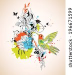 vector composition with humming ... | Shutterstock .eps vector #196671599