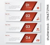 design clean number banners... | Shutterstock .eps vector #196671944