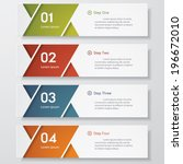 design clean number banners... | Shutterstock .eps vector #196672010
