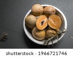 Sapodilla Slices In Zinc Bowl ...