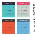 web calendar set   Shutterstock .eps vector #196678850