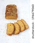 homemade diet bread with bran...   Shutterstock . vector #196679060