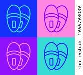 Pop Art Line Slippers Icon...
