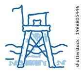 Rescue Beach Tower Sketch Icon...