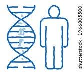 human and molecule dna sketch...   Shutterstock .eps vector #1966805500