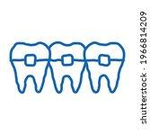 dentist stomatology teeth... | Shutterstock .eps vector #1966814209