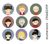 collection of cute vector... | Shutterstock .eps vector #196682459