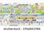 city silhouette families and... | Shutterstock .eps vector #1966841986