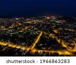 Panoramic Night View of greece komotini