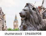 Bronze Lion In Trafalgar Squar...