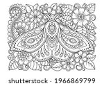 moth decorated with indian... | Shutterstock .eps vector #1966869799