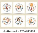 set of cute posters with... | Shutterstock .eps vector #1966905883