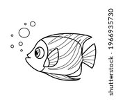 cartoon big sea fish outlined... | Shutterstock .eps vector #1966935730