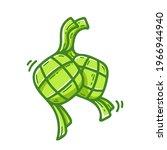 ketupat illustration cartoon... | Shutterstock .eps vector #1966944940