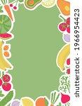 vector frame with vegetables... | Shutterstock .eps vector #1966954423