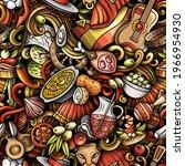 cartoon doodles spain seamless... | Shutterstock .eps vector #1966954930