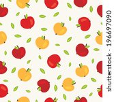 seamless pattern with red and... | Shutterstock .eps vector #196697090