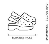 medical shoes linear icon....   Shutterstock .eps vector #1967014549