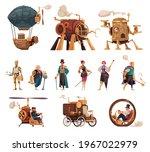 steampunk vintage technology... | Shutterstock .eps vector #1967022979